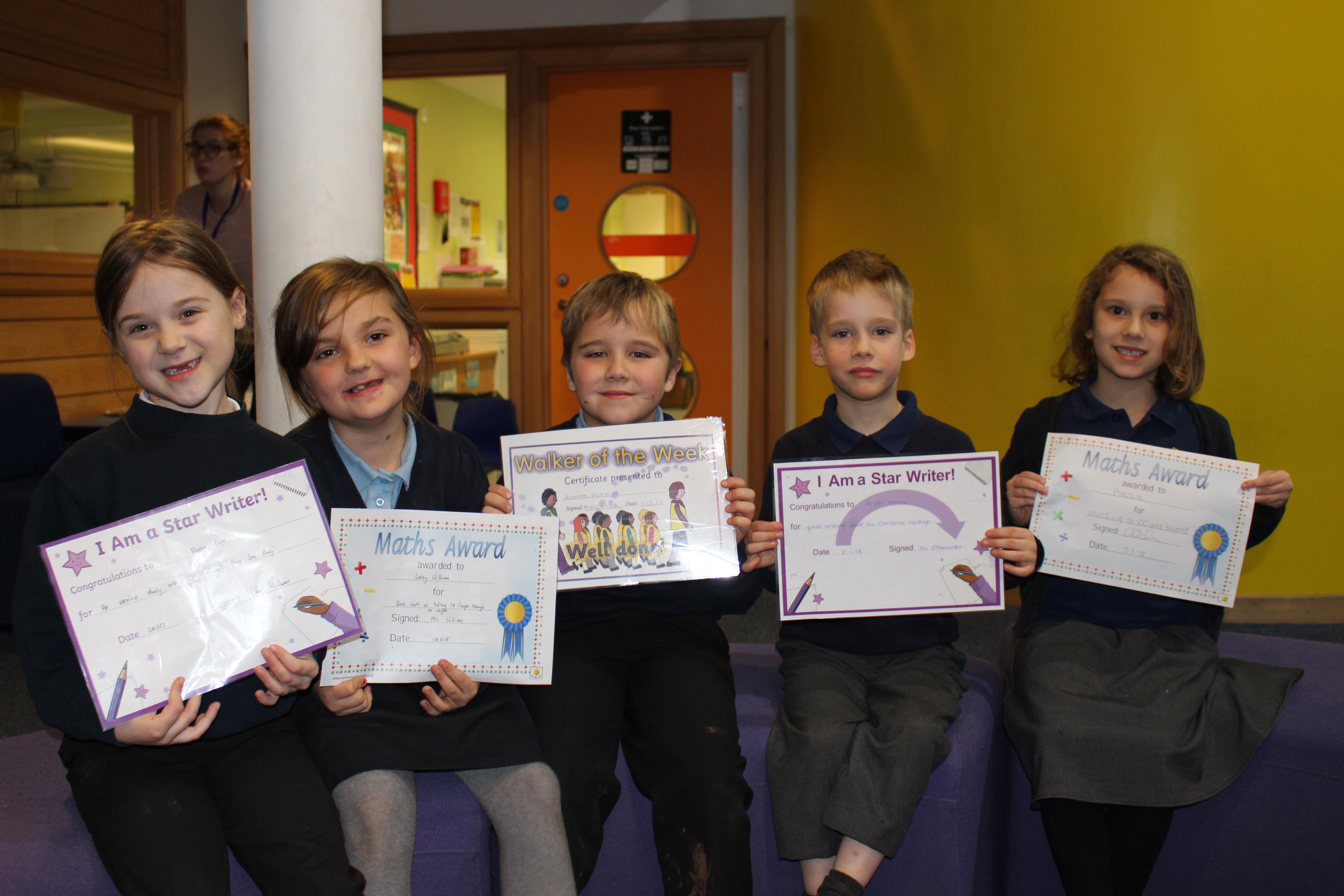 3 KS1 Certificates 5th Jan