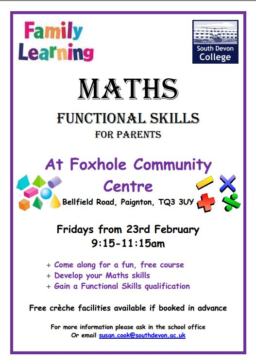 Maths Functional Skills Course For Parents - Kings Ash Academy