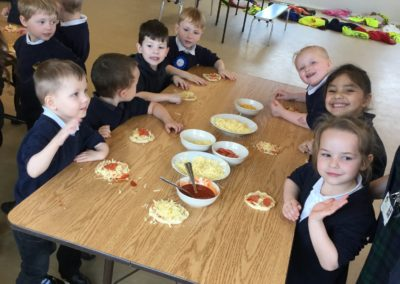 Reception pizza making!